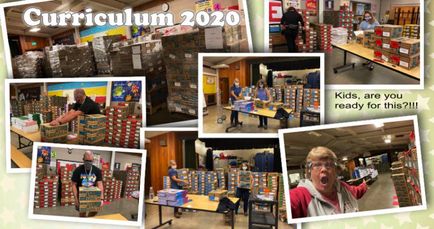 curriculum boxes & staff preparing